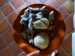 coconut innards