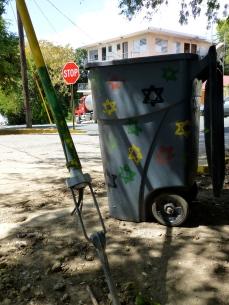 garbage can art...