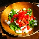 farm salad with toms and turnips