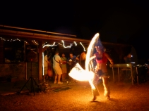 fire dancing and bluegrass