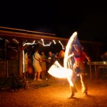 fire dancing and bluegrass