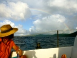 St croix welcomed us back with a rainbow